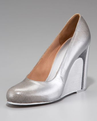 Maison Martin Margiela Cutoutwedge Illusion Pump - Lyst