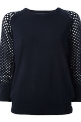 Marc By Marc Jacobs Mesh Sweater - Lyst