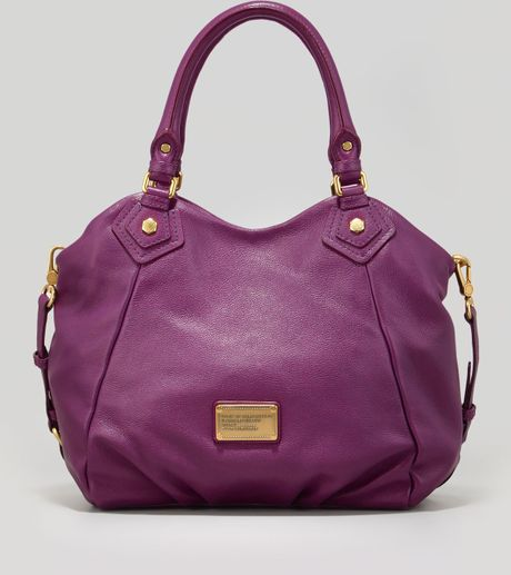 Marc By Marc Jacobs Classic Q Fran Satchel Bag Purple in Purple - Lyst