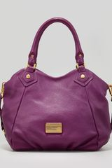 Marc By Marc Jacobs Classic Q Fran Satchel Bag Purple - Lyst