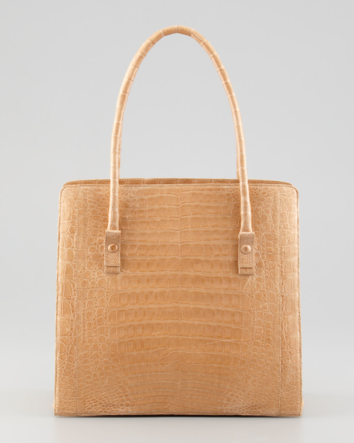 Nancy gonzalez northsouth medium crocodile tote bag beige for Nancy gonzalez crocodile tote