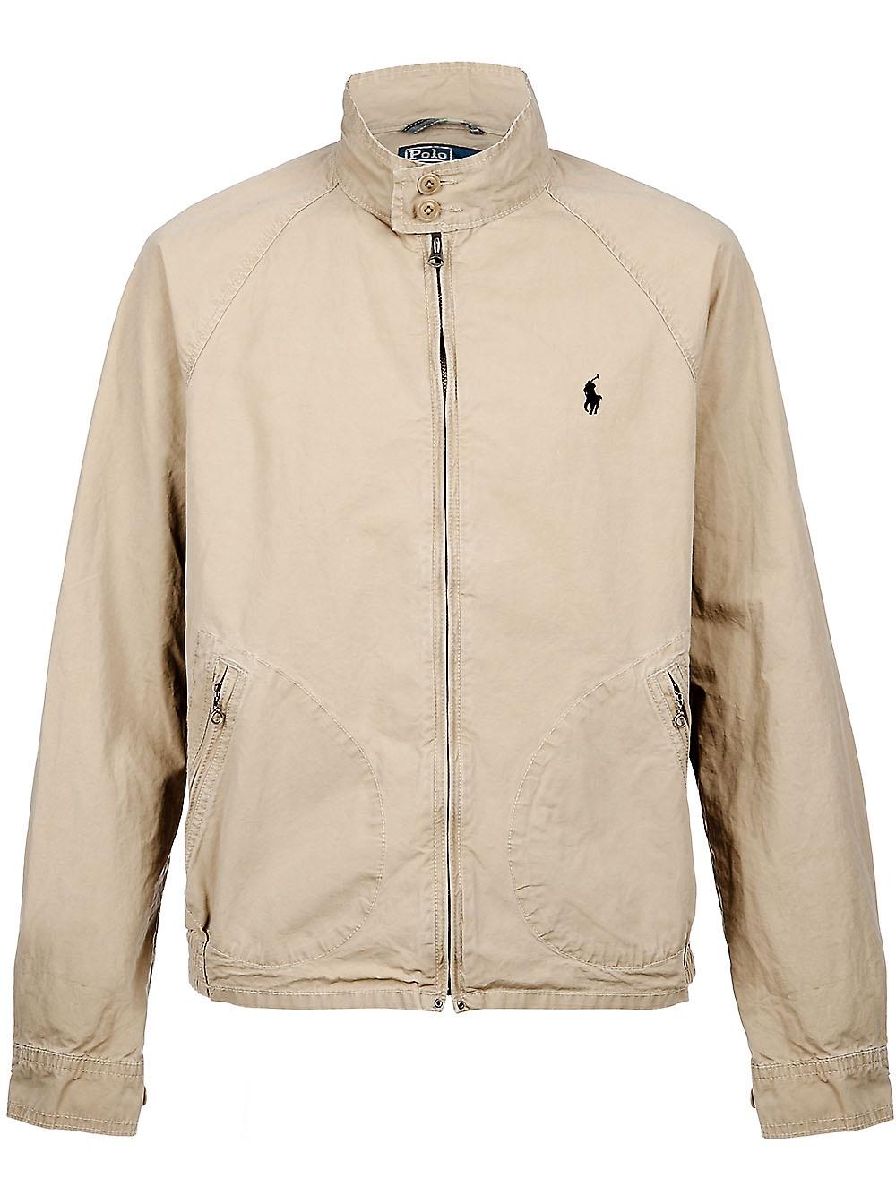 Lyst Polo Ralph Lauren High Neck Jacket In Natural For Men
