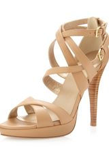 Stuart Weitzman Expressley Strappy Sandal Almond - Lyst