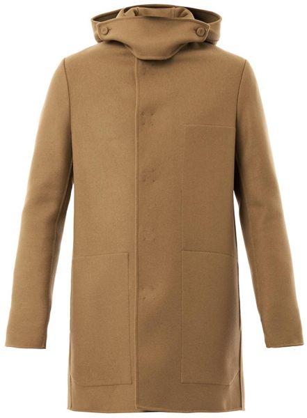 Bottega Veneta Woolblend Duffle Coat In Beige For Men