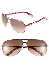 Dior Chicago 63mm Metal Aviator Sunglasses - Lyst