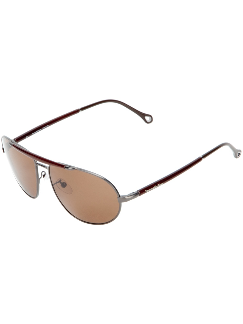 e49611796fa6 Ermenegildo Zegna Sunglasses in Brown for Men - Lyst