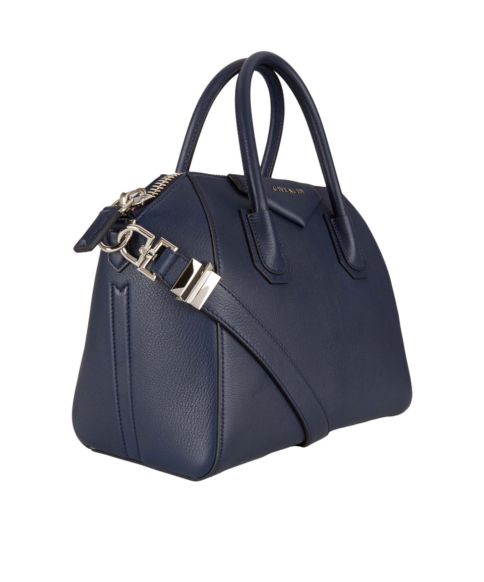 4a1965769e8e Lyst - Givenchy Small Navy Antigona Textured Leather Bag in Blue