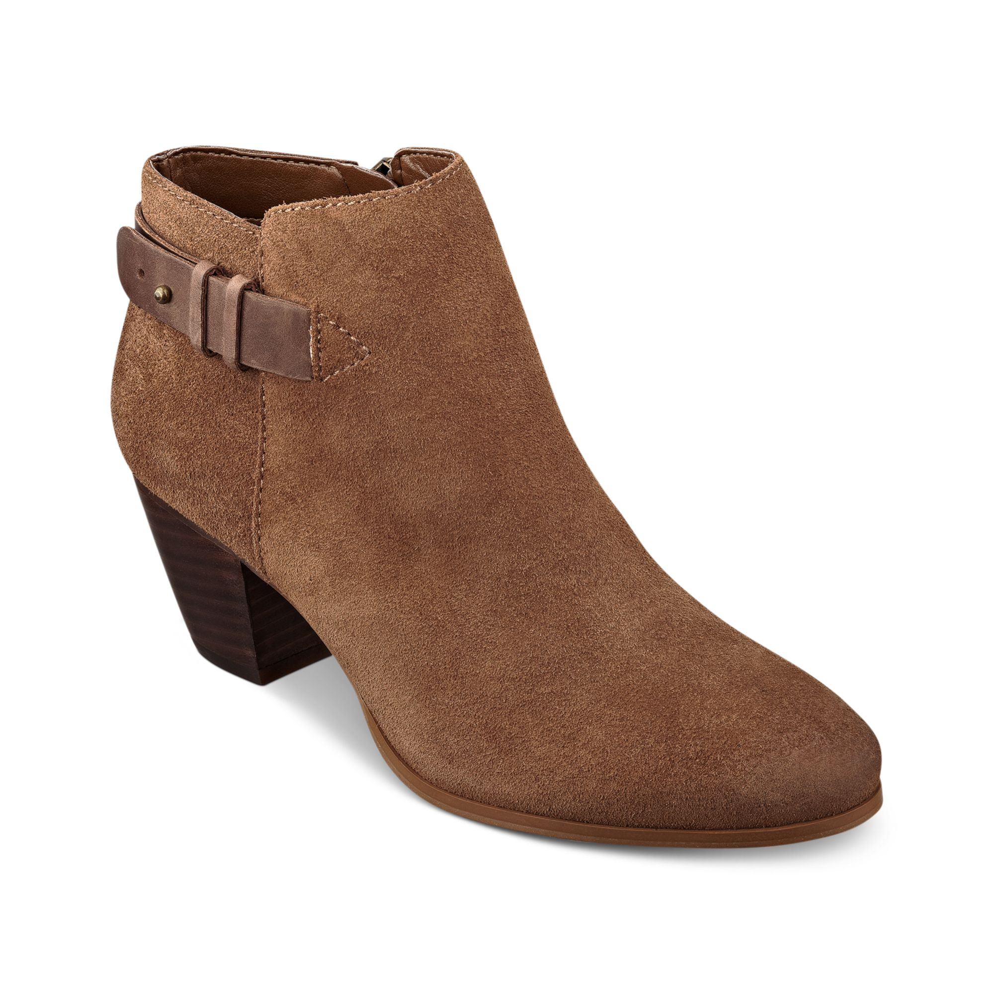 guess veora booties in brown brown suede lyst