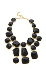 Kenneth Jay Lane Stone Bib Necklace - Lyst