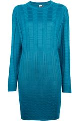M Missoni Panelled Sweater Dress - Lyst