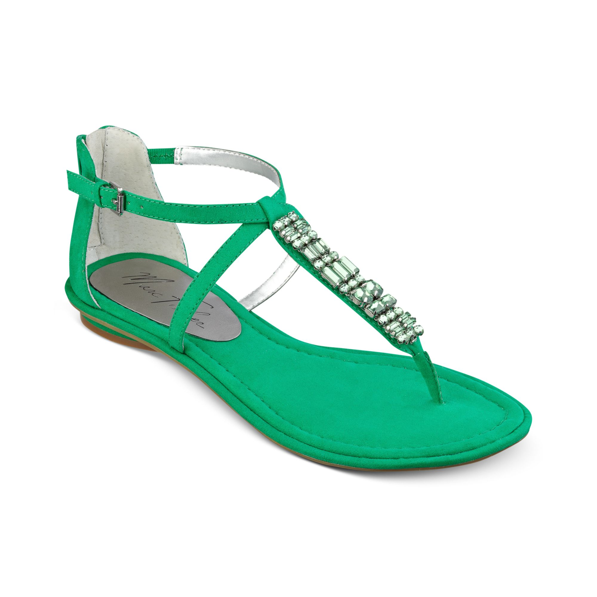 16a65663e1f2 Lyst - Marc Fisher Mard Flat Thong Sandals in Green
