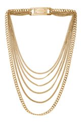 Michael Kors Multi Strand Chain Link Necklace Golden - Lyst