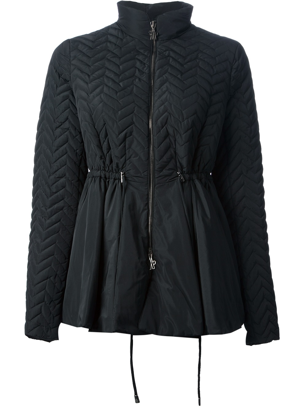 moncler flared quilted coat
