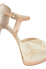 Nine West Nerissa Peep Toe Pump - Lyst