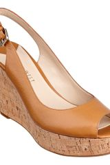 Nine West Chabon Sanda in Brown (NATURAL LEATHER) - Lyst