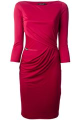 Roberto Cavalli Ruched Dress - Lyst