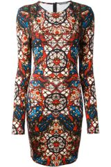 Alexander McQueen Printed Dress - Lyst