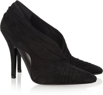 Alexander Wang Ruched Suede Pumps - Lyst