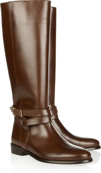 burberry leather boots in brown brown lyst