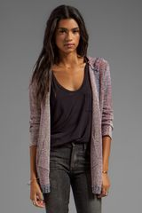 Chaser Hooded Open Cardigan in Fuchsia - Lyst