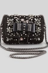 Christian Louboutin Sweet Charity Jeweled Crossbody Bag Black - Lyst