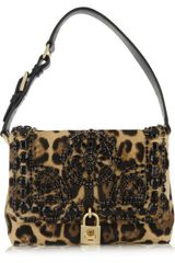 Dolce & Gabbana Miss Dolce Medium Leopard Print Calf Hair Shoulder Bag - Lyst