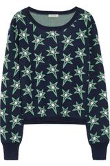Emma Cook Star-patterned Wool-blend Sweater - Lyst