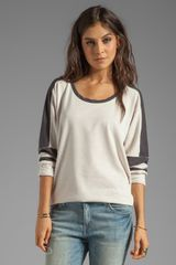 Free People Color Block Pullover in Ivory - Lyst