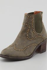 Jeffrey Campbell Lennox Studded Leather Ankle Boot - Lyst
