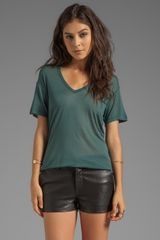 Kain Sheer Jersey Classic V Neck in Green - Lyst