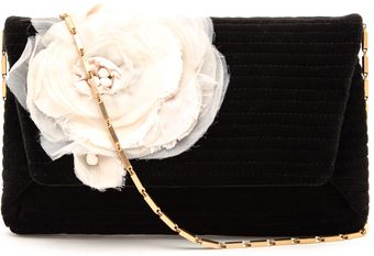 Lanvin Ribbed Velvet Clutch Bag - Lyst