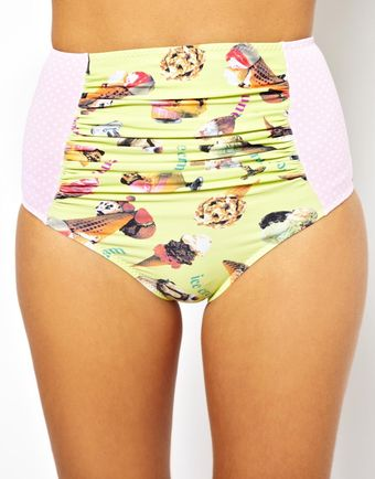 Senso Lbr Swim Ice Cream Print High Waist Bikini Bottom - Lyst