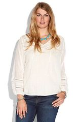 Lucky Brand Corabelle Embroidered Top - Lyst