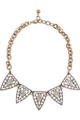 Lulu Frost Galaxy Goldplated Crystal Necklace - Lyst