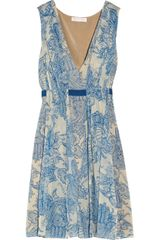 Matthew Williamson Henna Printed Silkgeorgette Dress - Lyst
