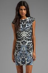 McQ by Alexander McQueen Interlock Kaleidoscope Print Dress in Black - Lyst