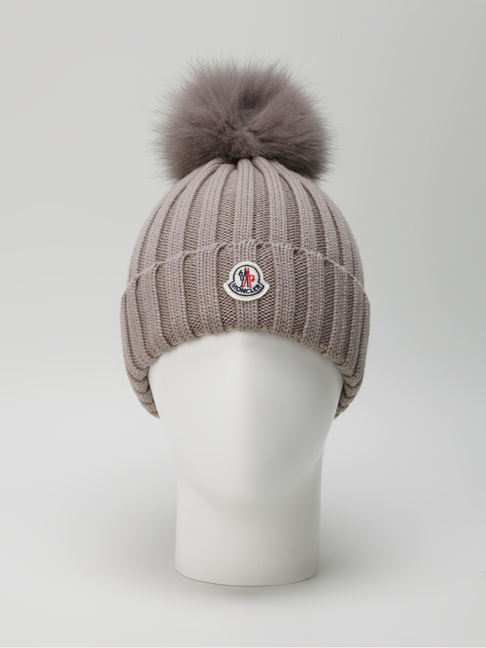 f15ae91e5 Moncler Ribbed Knit Beanie Hat