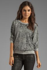 Monrow Vintage Sweatshirt in Gray - Lyst