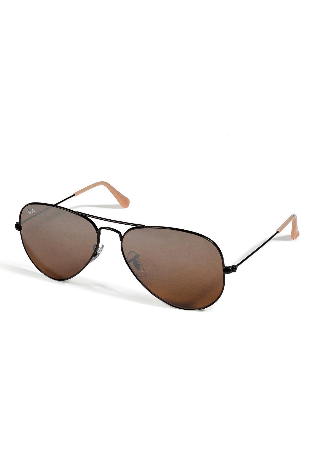 Lyst Ray Ban Black Aviator Large Metal Mirrored