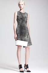 Reed Krakoff Asymmetric Alligatorprint Dress - Lyst