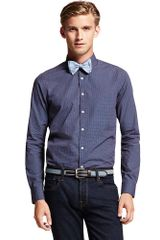 Tommy Hilfiger Slim Fit Cross Printed Shirt - Lyst