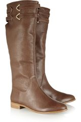 Twelfth Street by Cynthia Vincent Buckle Texturedleather Riding Boots