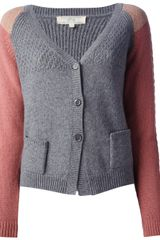 Vanessa Bruno Athé Colour Block Cardigan - Lyst