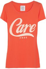 Zoe Karssen Carefree Cotton and Jersey Blend Tshirt - Lyst