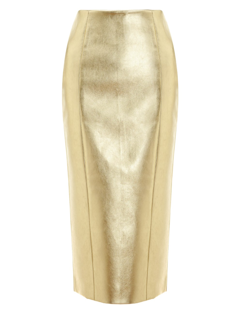 Gold Pencil Skirt - Dress Ala