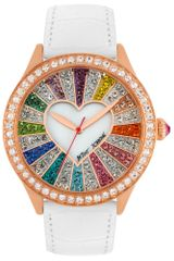 Betsey Johnson Womens White Leather Strap 42mm 15 - Lyst
