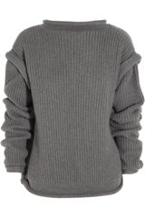 Christopher Kane Oversized Cashmere Open-back Sweater - Lyst