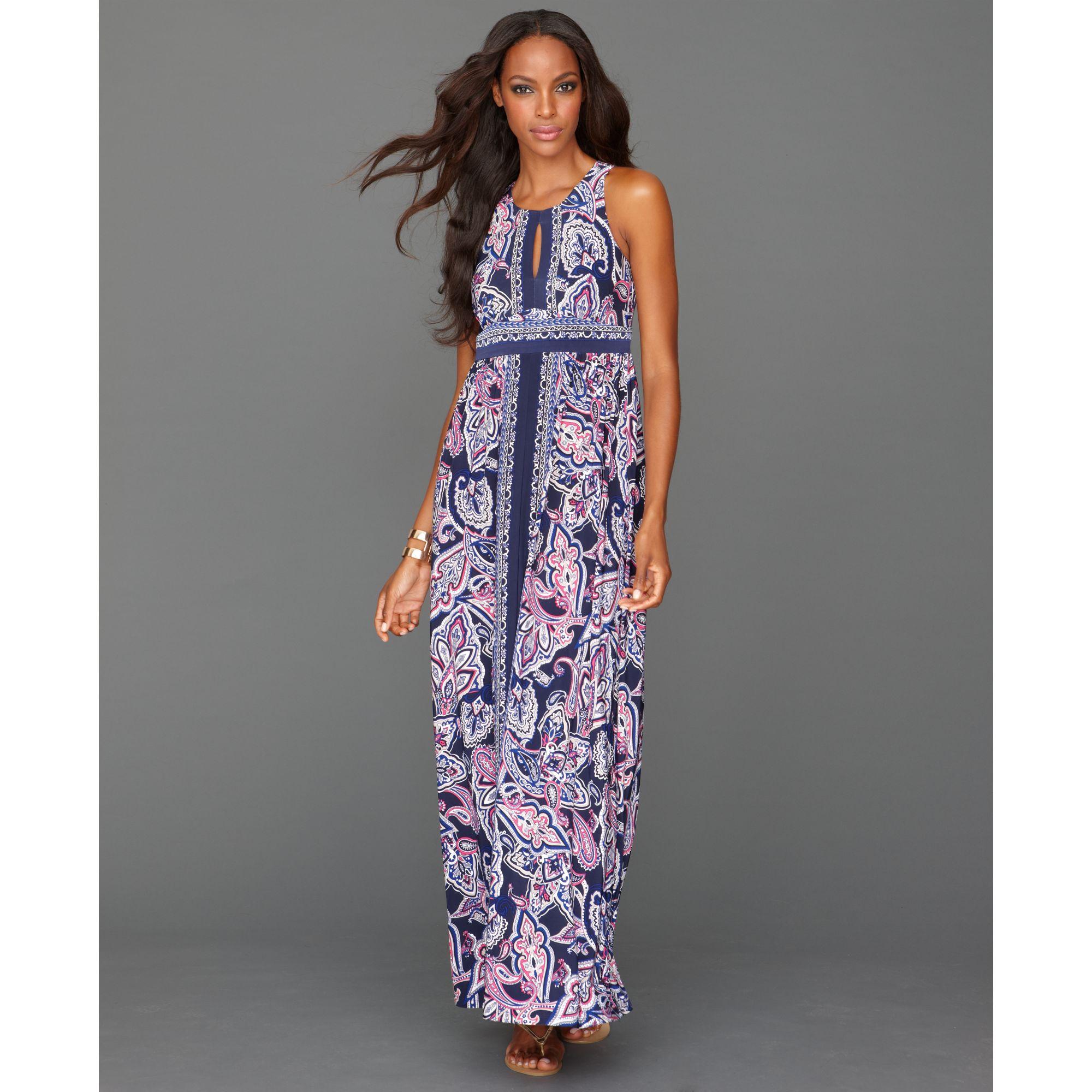 inc international concepts dress sleeveless printed maxi dress ...
