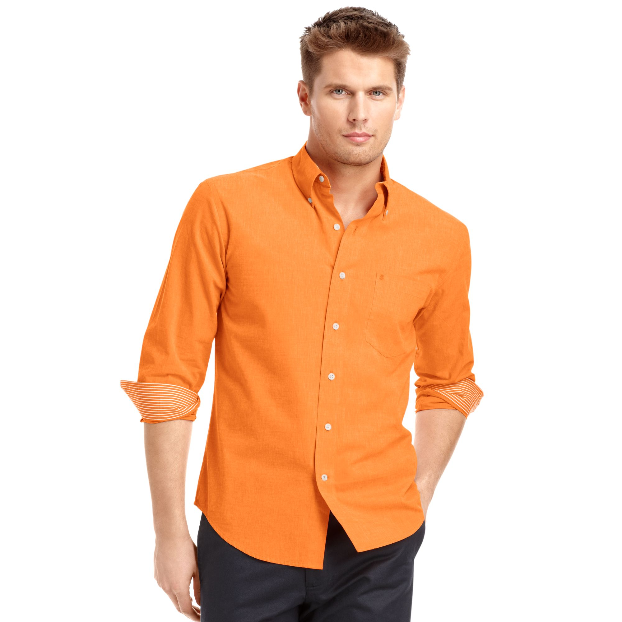 Izod izod big and tall shirt longsleeve essential solid for Big and tall long sleeve shirts