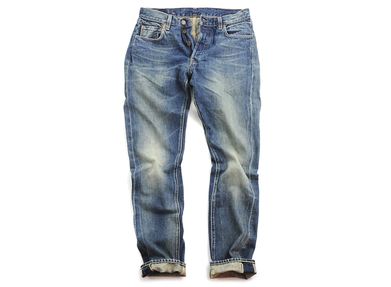 levi 39 s levis vintage 501 jeans customized in blue for men red lyst. Black Bedroom Furniture Sets. Home Design Ideas